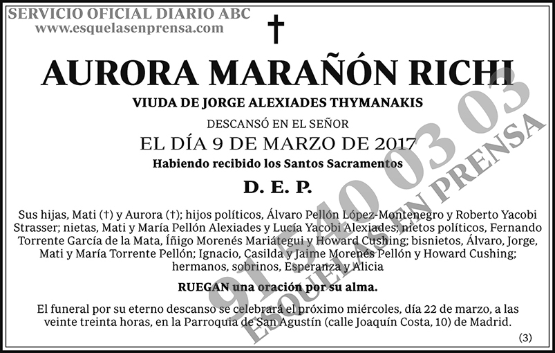 Aurora Marañón Richi